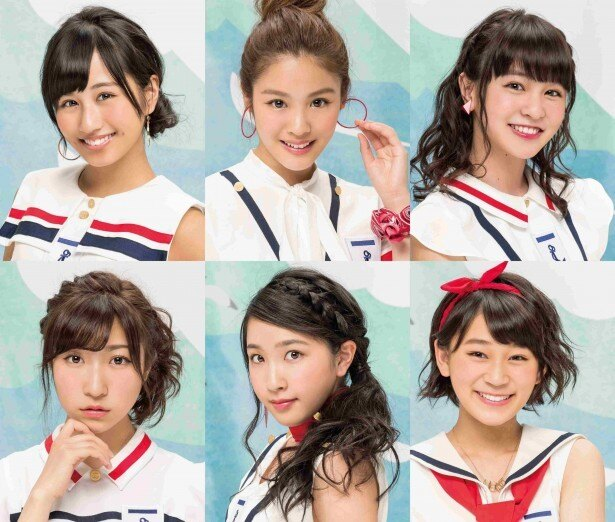 La PomPonのKIRI、YUKINO、RIMA、HINA、MISAKI、KAREN(写真左上から時計回り)