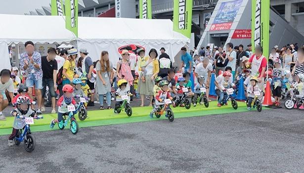 幼児向け自転車レースも開催!
