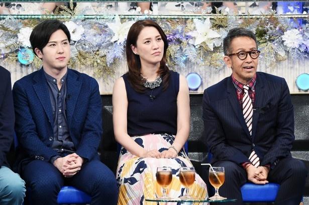 出場者たちの戦いを真剣に見詰めるゲストの尾上松也、遼河はるひ、宮本亜門(写真左から)