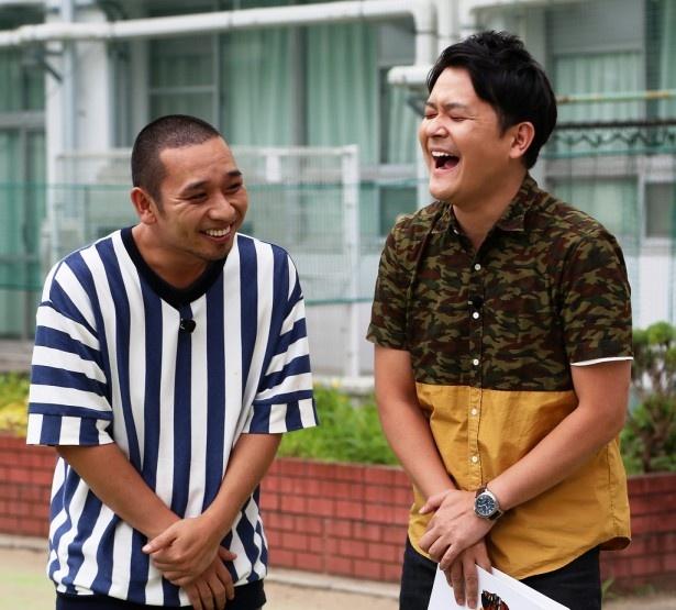 新番組「NEO決戦バラエティ-『キングちゃん』」収録中のMC千鳥