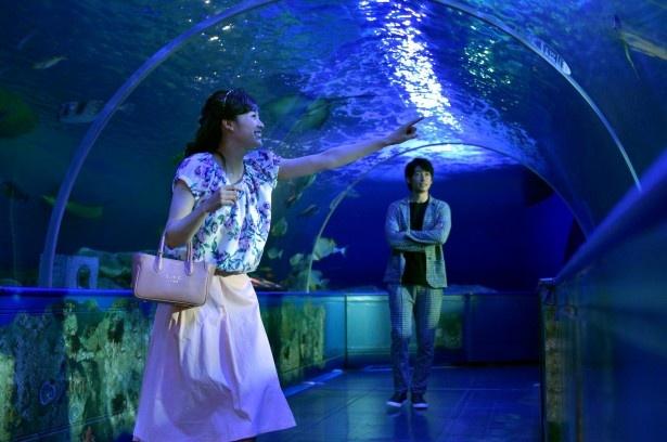 北斗(ディーン・フジオカ)がデートのために仕事を調整してくれたと知り、思い切り楽しむ千和(清野菜名)