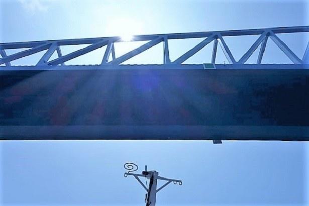 東京ゲートブリッジ真下はすごい迫力