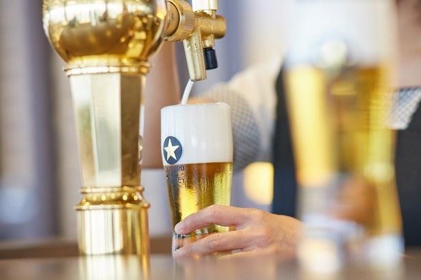 サッポロビール園でつぎたて生ビールを試飲