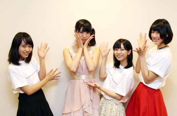イベントに出演した中邑恵麻、梅本、小嶋乃愛、三上真依(写真左から)