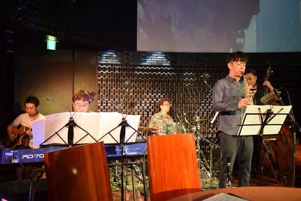 田中公平さん率いるバンドセットによるミニライブも実施