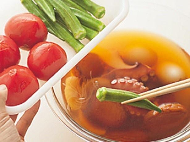 【写真を見る】野菜は下ゆでしておくと味がしみやく、色よく仕上がる