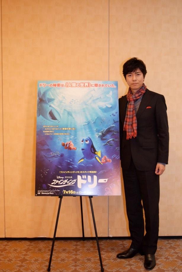 「ファインディング・ドリー」で7本足のタコ・ハンクの声を担当した上川隆也
