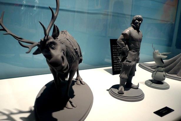 アニメーターが照明の効果や動きをイメージするために制作される、マケット(立体模型)も見ることができる