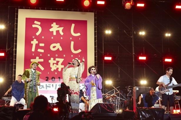 アンコールでは、レキシの池田貴史と元気出せ!遣唐使とのセッションで「決戦は金曜日」を披露