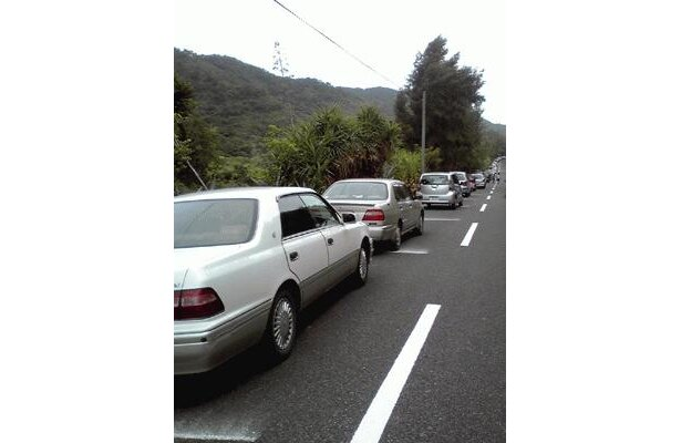 奄美大島は朝から大渋滞!