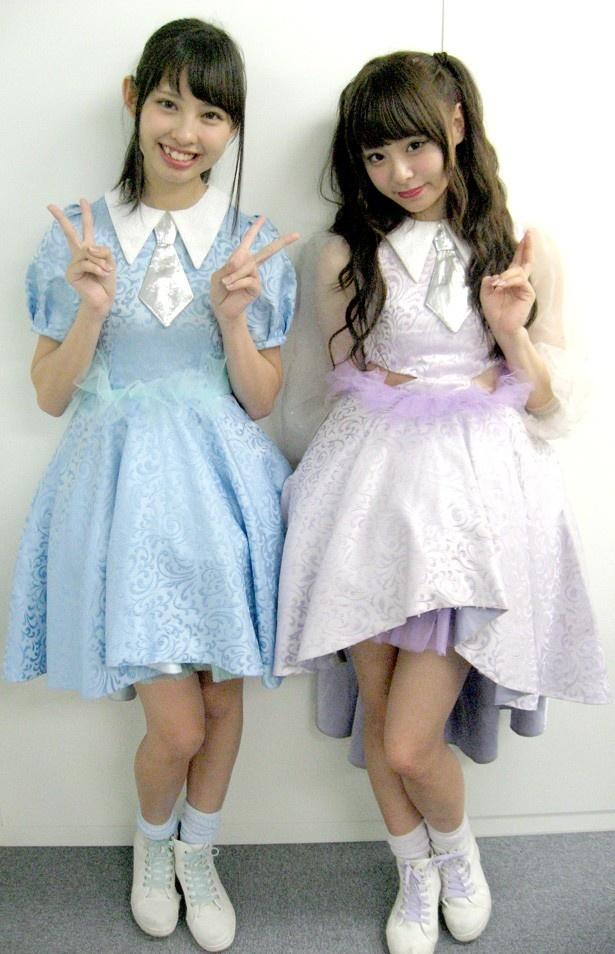 「マジカル・パンチライン」の沖口優奈(左)、佐藤麗奈(右)