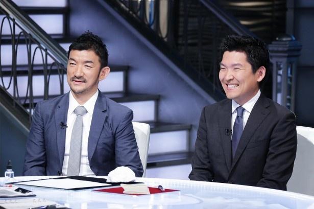 ゲストは(写真左から)TBM社長・山崎敦義氏とスパイバー代表執行役の関山和秀氏