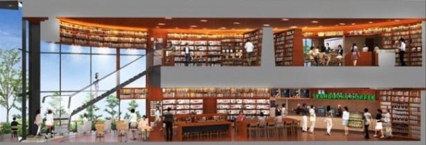 【写真を見る】ビジネスシーンに合わせてセレクトされた、本や文具などが豊富に並ぶ