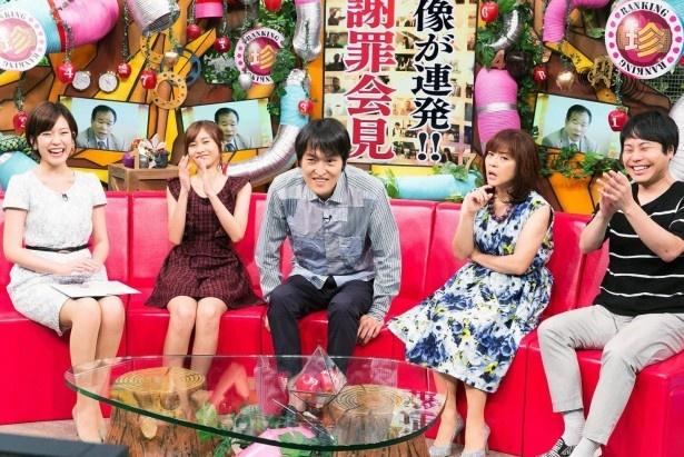 NON STYLE・井上裕介(右端)も意外なランキング結果に大笑い!