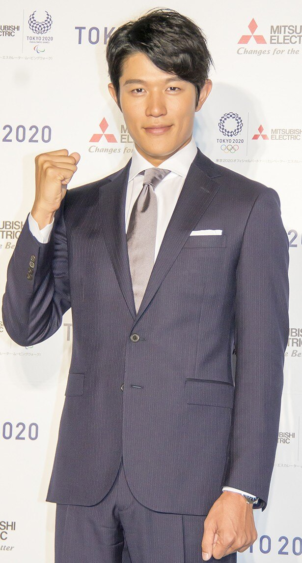 三菱電機東京2020オリンピック・パラリンピック新CM発表会に出席した鈴木亮平