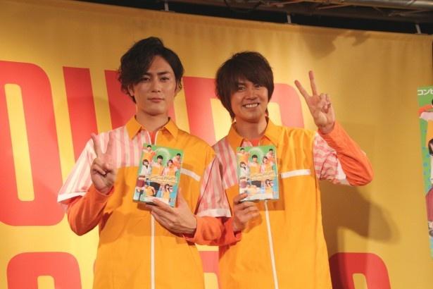 7月22日に発売されたDVD&Blue-ray「ニーチェ先生」の発売記念イベントに間宮祥太朗、浦井健治が登場!
