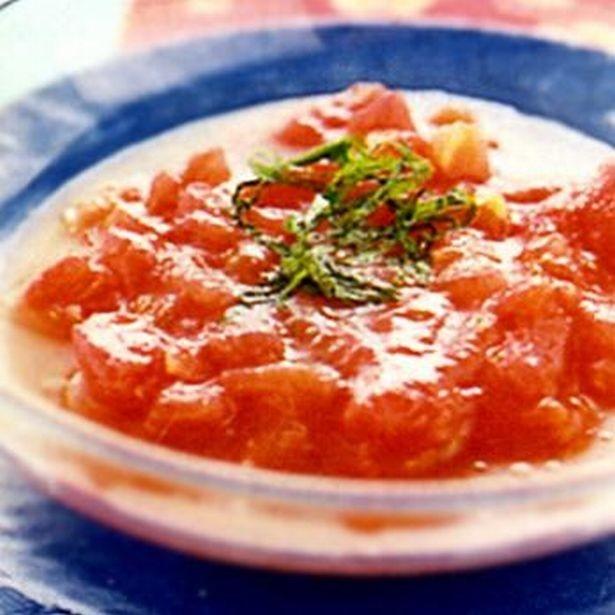 10分で出来るひんやりスープ。「トマトのフレッシュスープ」