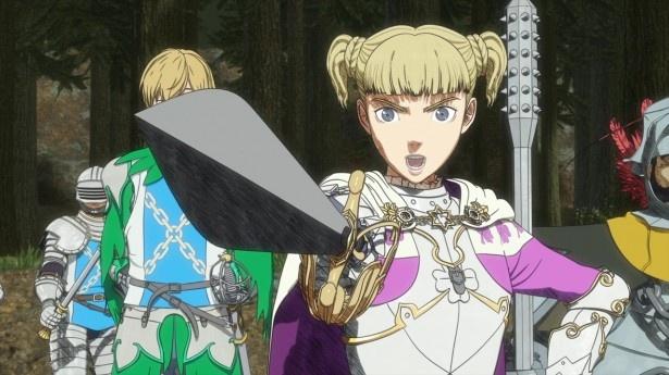 【写真を見る】第2話では、黙示録の予言を調査する聖鉄鎖騎士団が、「黒い剣士」ガッツに嫌疑を向けて取り囲む