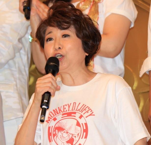 『ONE PIECE FILM GOLD』の初日舞台挨拶に登場した田中真弓