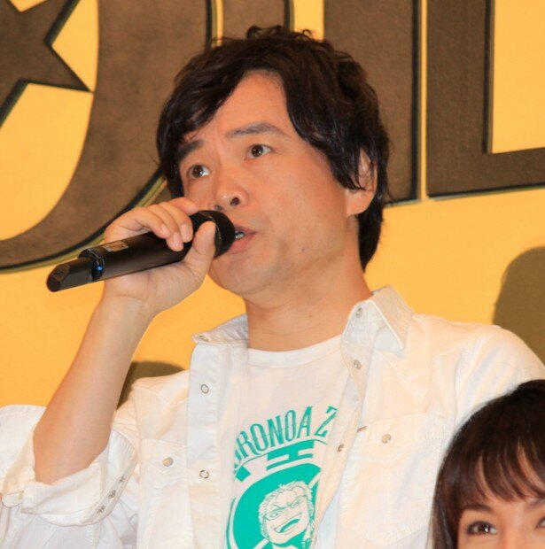 『ONE PIECE FILM GOLD』の初日舞台挨拶に登場した中井和哉