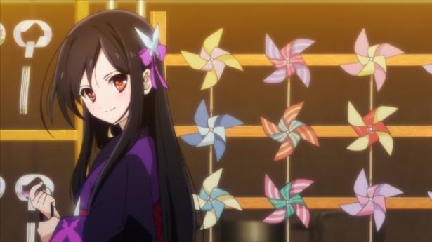 三澤が「黒雪姫と同じような浴衣を着てみたい」と語った、黒雪姫の浴衣姿