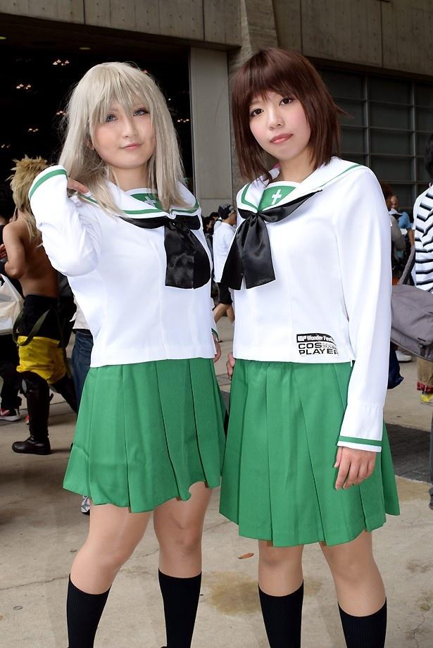 「ガールズ&パンツァー」の逸見エリカ(左:春名涼さん)と、西住まほ(右:遠吠さん)