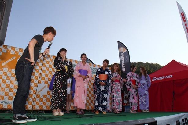 レースクイーン浴衣コンテストも開催!