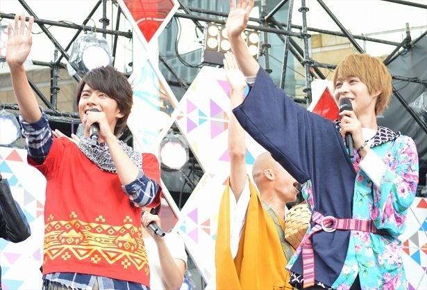 「仮面ライダーゴースト」「動物戦隊ジュウオウジャー」のキャスト陣が「テレ朝夏祭り」に登場!