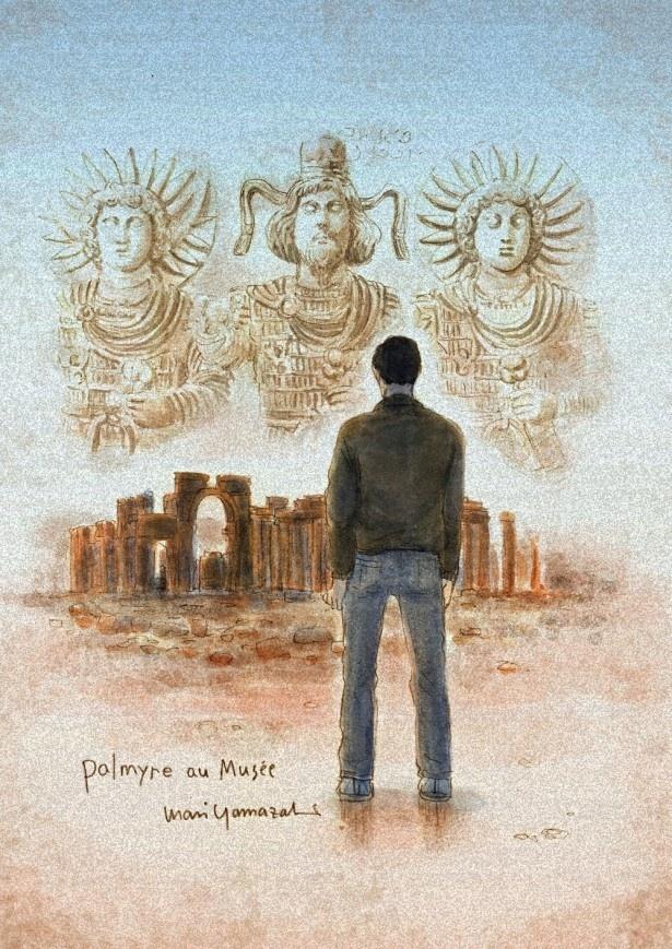 ルーヴル美術館特別展「ルーヴルNo.9 ~漫画、9番目の芸術~」ヤマザキマリ/『Palmyre au Musée 美術館のパルミラ』