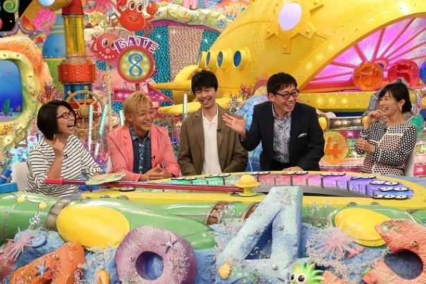 「ニッポンのぞき見太郎 夏の2時間SP」では『東大生の育て方』をテーマに、くわばたりえ(左端)らがトークを繰り広げる