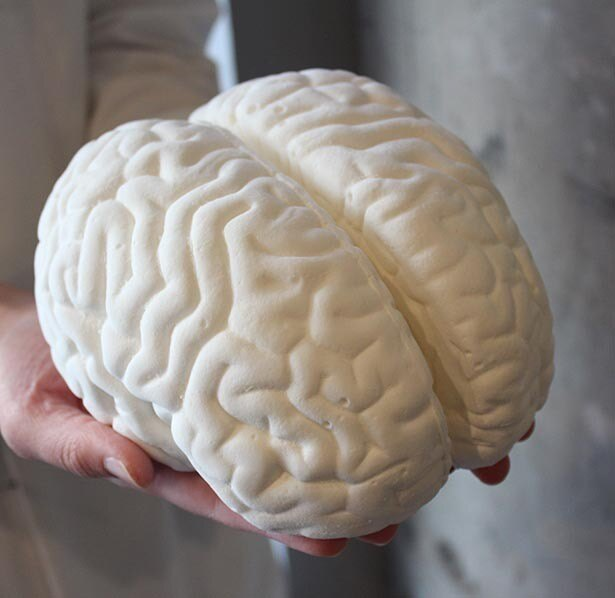 実物大!? 「脳みそマシュマロプレーン味」