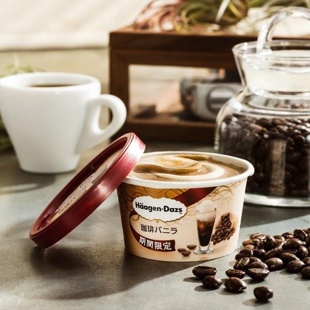 コーヒーの本格的なおいしさを追求した、ハーゲンダッツ ミニカップ「珈琲バニラ」(希望小売価格294円)。今年も期間限定で復活!