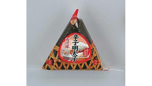 135円の「ふっくら三角手巻 辛子明太子」も100円