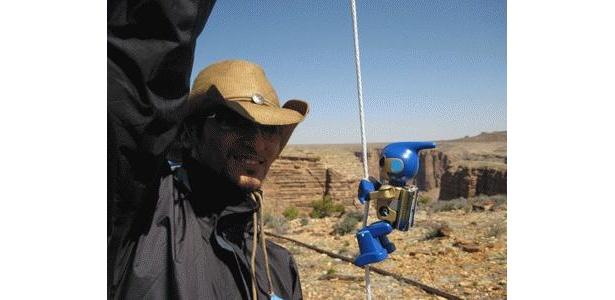 グランドキャニオン登頂にチャレンジした「エボルタ」の画像