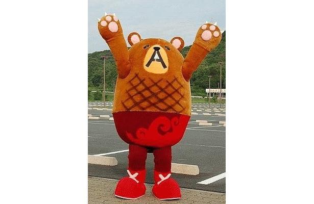 """ハンバーグマのグーグー。名前には""""ハンバーグうまッ(美味しい)""""や。お腹が鳴る音""""グーグー""""、""""good!good""""などの意味があるとか"""