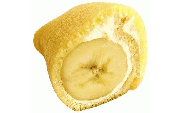 バナナが丸ごと入っているのがよくわかる