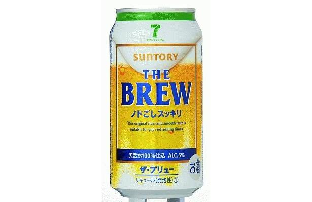 喉ごし自慢の「THE BREW〜ノドごしスッキリ〜」(123円)もサントリーと共同開発!