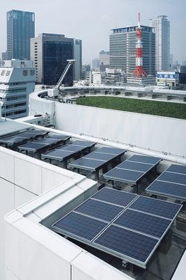 ブリーゼタワーには太陽光発電も設置