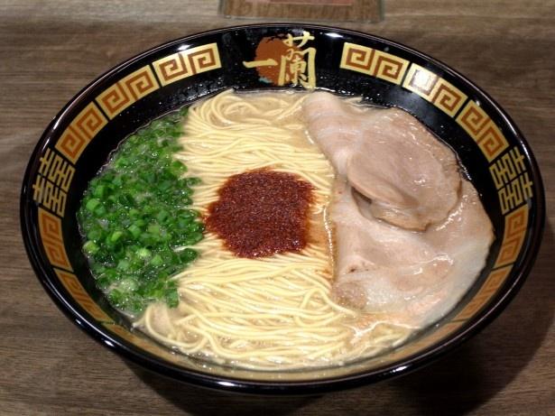 スープの濃厚な旨味がクセになる「天然とんこつラーメン(創業以来)」(790円)