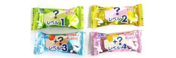 レベル1〜4の詳細画像。レベル4は3つのミックスフルーツ味で超難解!