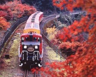 眼下に広がる渓谷美!嵯峨野トロッコ列車の感動絶景