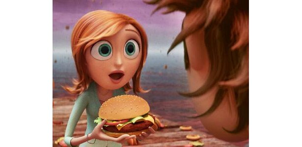こんなにおいしそうなハンバーガーが降ってくるなんて、まるで夢のよう!?