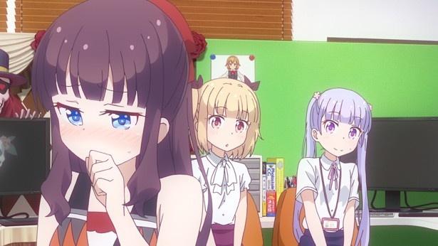 TVアニメ「NEW GAME!」第6話先行カットが到着。青葉、初のキャラデザに挑戦!