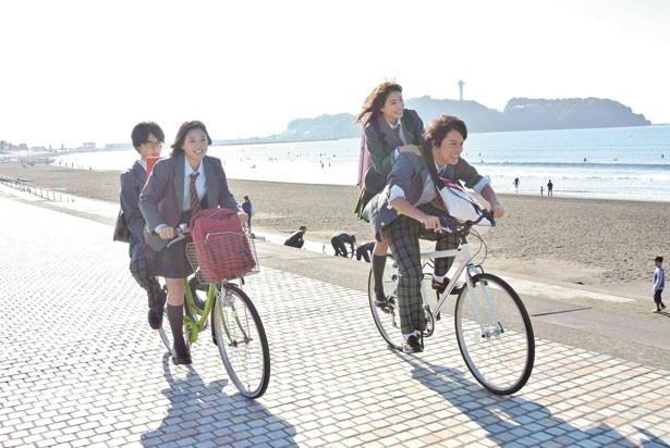 渡(中川)が勢いよく自転車をかっ飛ばす姿もカッコいい!