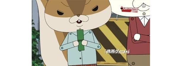 ロペとアキラ先輩が携帯ゲームに挑戦!?