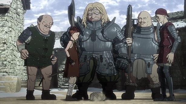 アニメ「ベルセルク」第5話の場面カットが到着。キャスカを探すガッツ、難民に溢れる聖地へ