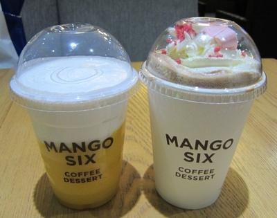 【写真を見る】3種類のフレッシュマンゴージュースだけでなく豆からこだわるコーヒーも評判の人気カフェ