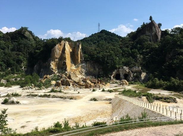 有田焼の原料となる陶石の採掘場。江戸時代初期の1616年に李参平らにより発見された