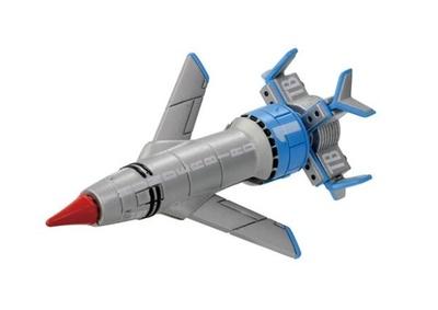 トレーシー一家の長男スコット・トレーシーがメインパイロットの架空の超音速有人原子力ロケット機「クラシック版 サンダーバード1号」(税抜800円)