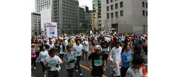 10kmの参加者も多数